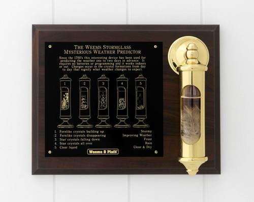 Brass Stormglass & Plaque Set (200SET)