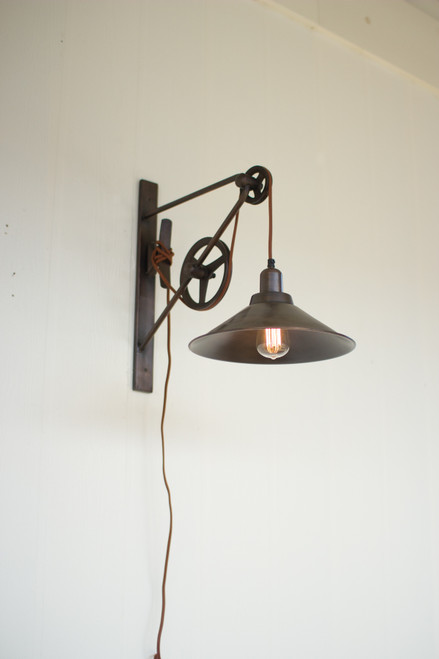 Double Pulley Wall Sconce