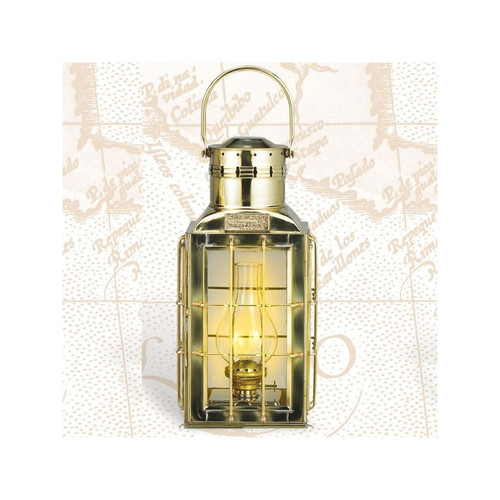 "(BL-825 Elec.)  15"" Premium Brass Chief Electric Lantern"