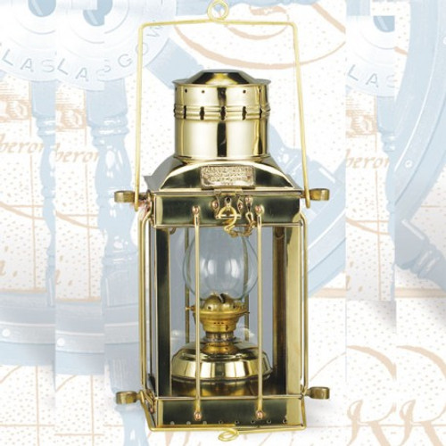 "(BL-836S Oil)  10"" Oil Burning Brass Cargo Lantern"