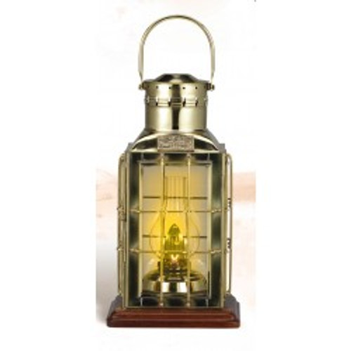 "Brass Cargo Lantern with Base - Oil - 16"""