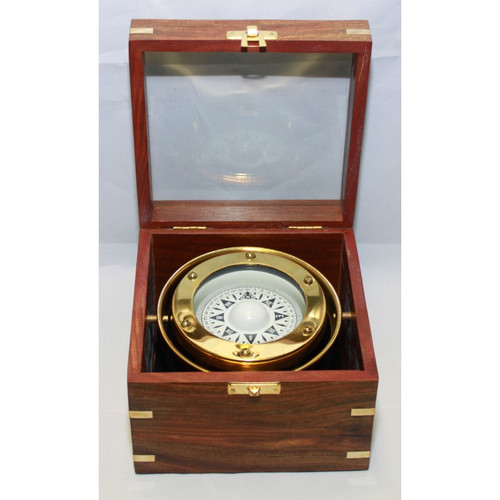 """Gimbaled Compass in Box - 4"""""""