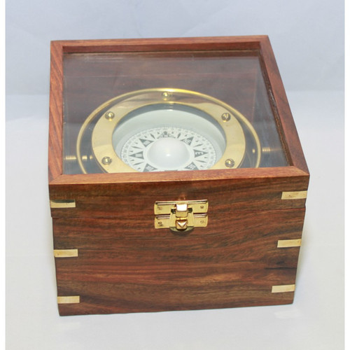 """Gimbaled Compass in Box - 4"""" w/$12.00 Key Ring Free!"""
