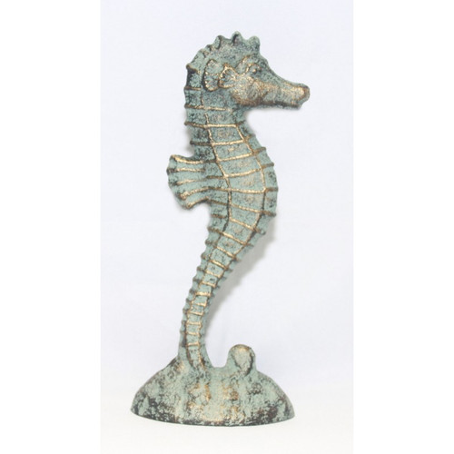 Cast Iron Statue - Seahorse on Stand - 5.5""