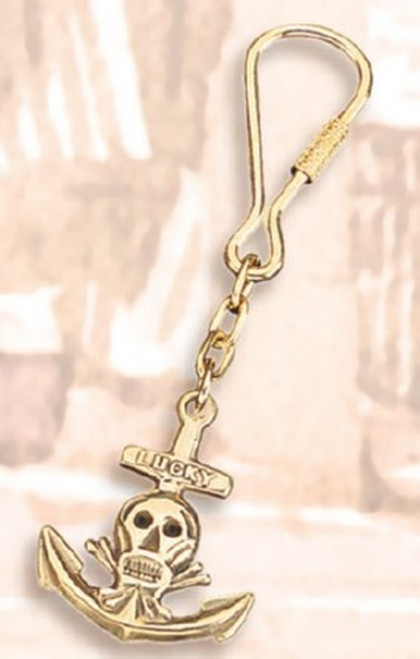 Nautical Key Chain - Anchor with Pirate