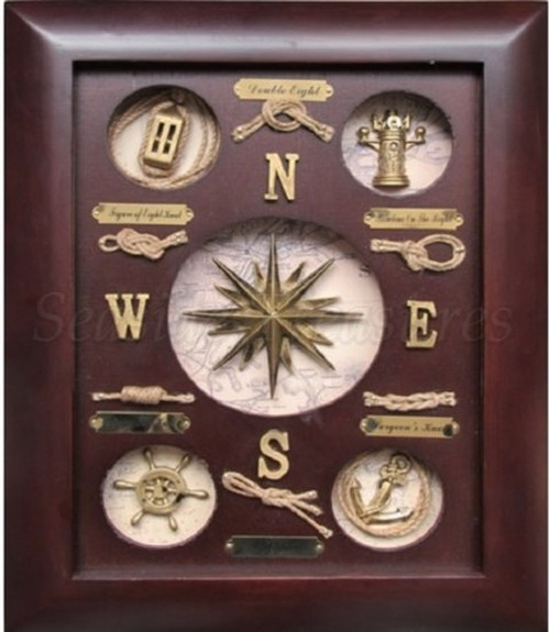"Compass Rose Knot Board - 15"" x 11.8"""