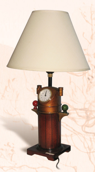 """Decorative Binnacle Clock Lamp  - 15.75"""""""