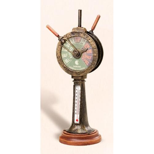 Metal Telegraph Thermometer