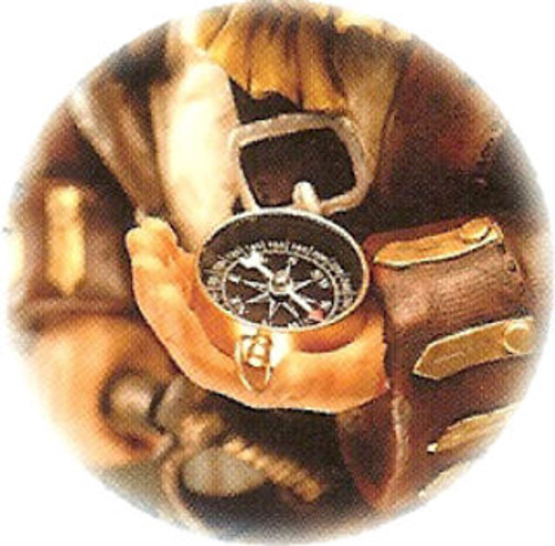 """Polystone Pirate with Compass - 12.5"""""""