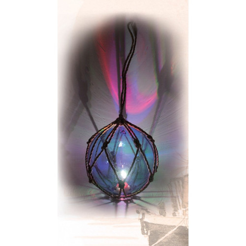 """Glass Float with Multi-Color LED Light-  Green - 5"""""""