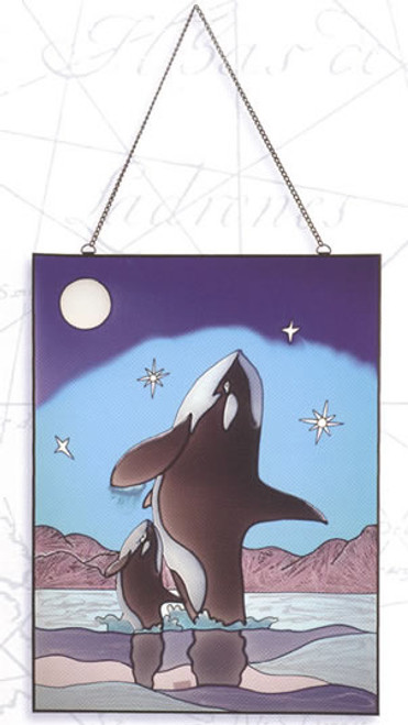 Stain Glass Wall Hanger - Whale