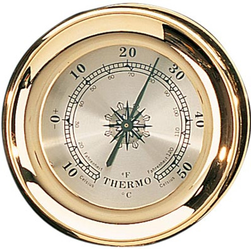 """(TK-225TC) 4.5"""" Lacquer Coated Brass Captain Thermometer"""