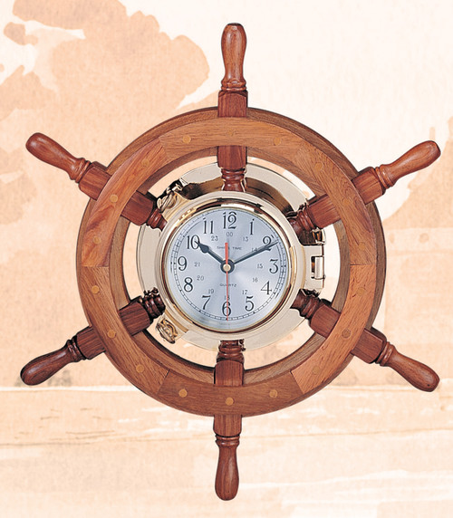 Porthole Wheel Clock - 18""