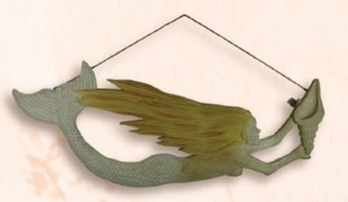 Wooden Mermaid - Yellow