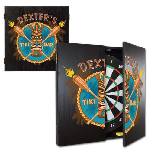 Personalized Dart Board - Tiki Bar