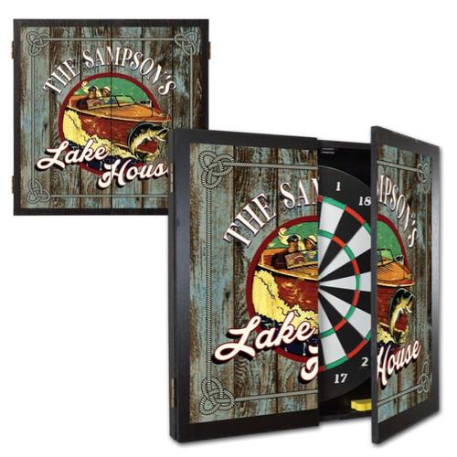 Personalized Dart Board - Lake House