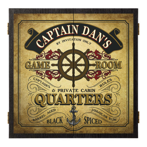 Personalized Dart Board - Captain