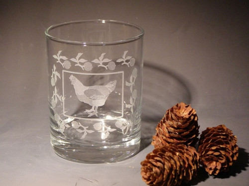 Hand Carved Crystal Double Old Fashioned Glasses - 13.5oz - Set of 2 - Personalized