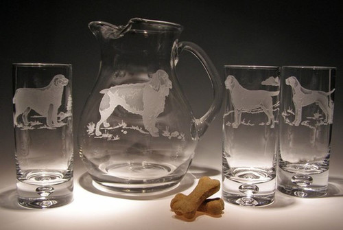 Hand Carved  Crystal Pitcher - 84oz - Personalized