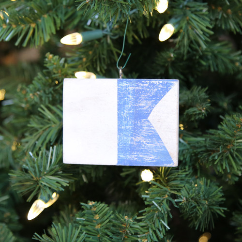 Nautical Signal Flag Ornament - Letter A