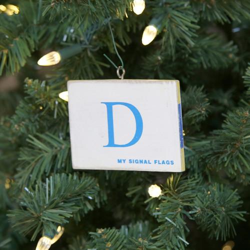 Nautical Signal Flag Ornament - Letter D