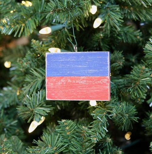 Nautical Signal Flag Ornament - Letter E