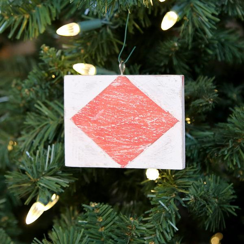 Nautical Signal Flag Ornament - Letter F