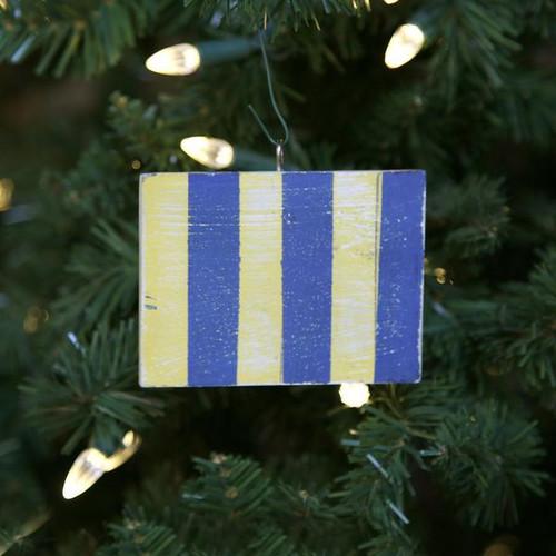 Nautical Signal Flag Ornament - Letter G