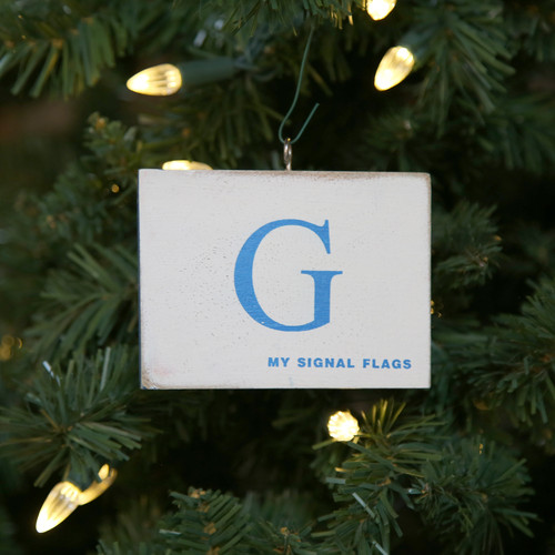 Nautical Signal Flag Ornament - Letter G