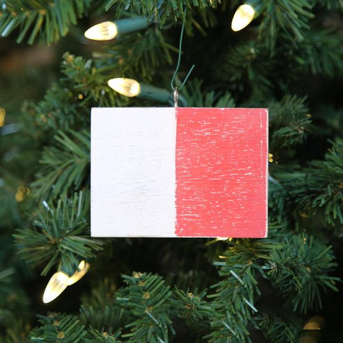 Nautical Signal Flag Ornament - Letter H