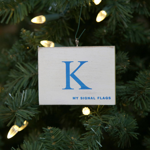 Nautical Signal Flag Ornament - Letter K