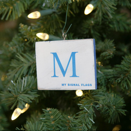 Nautical Signal Flag Ornament - Letter M
