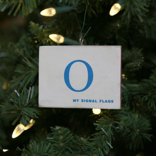 Nautical Signal Flag Ornament - Letter O