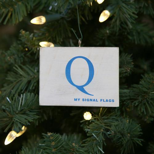 Nautical Signal Flag Ornament - Letter Q