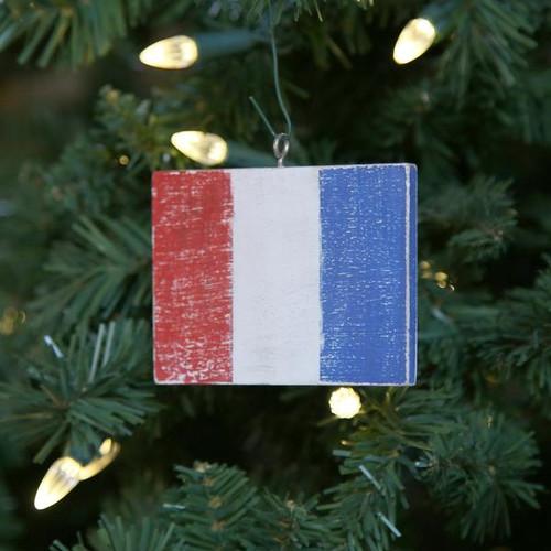 Nautical Signal Flag Ornament - Letter T
