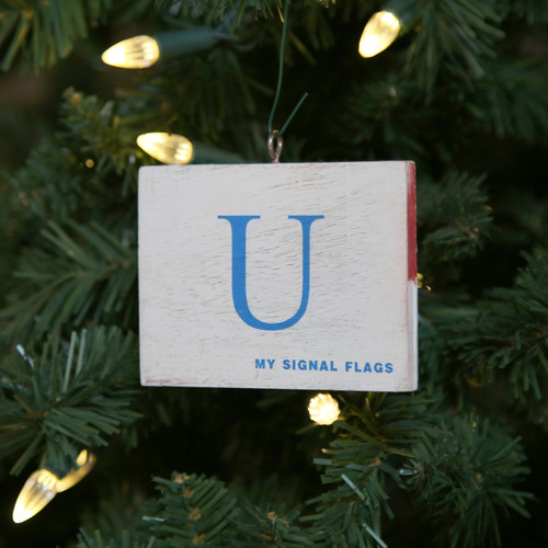 Nautical Signal Flag Ornament - Letter U