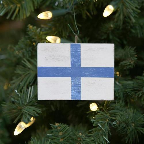 Nautical Signal Flag Ornament - Letter X