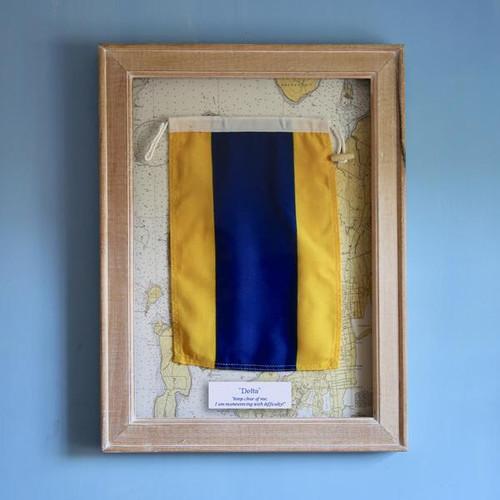 Nautical Signal Flag - Framed - Letter D