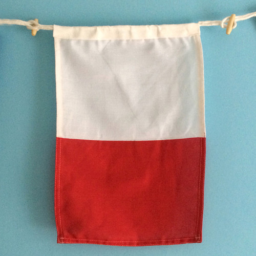Nautical Signal Flag - Framed - Letter H