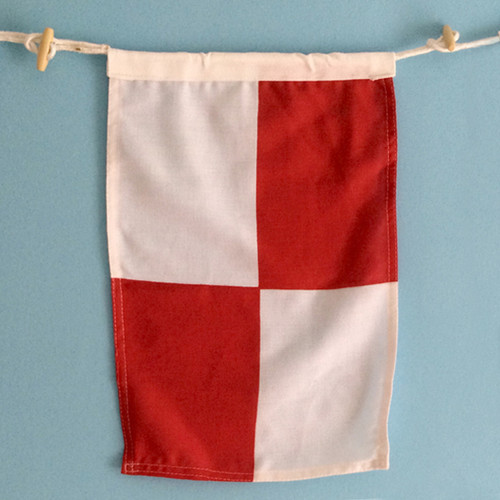 Nautical Signal Flag - Framed - Letter U
