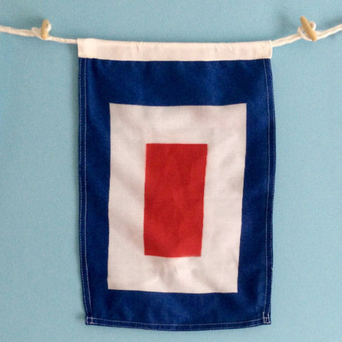Nautical Signal Flag - Framed - Letter W