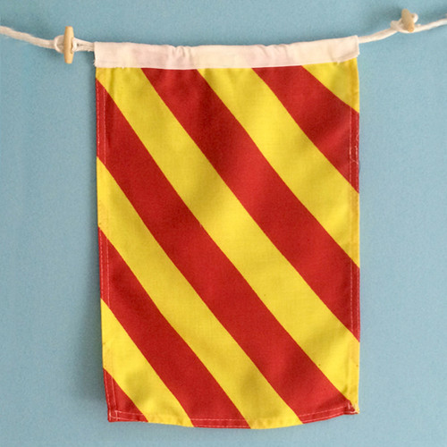 Nautical Signal Flag - Framed - Letter Y