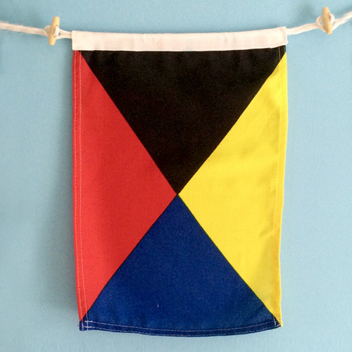 Nautical Signal Flag - Framed - Letter Z