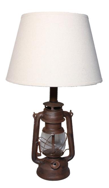 "Decorative Metal Oil Lantern Lamp  - 15"""