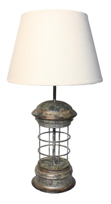 "Rustic Caged Lantern Lamp - 16"""