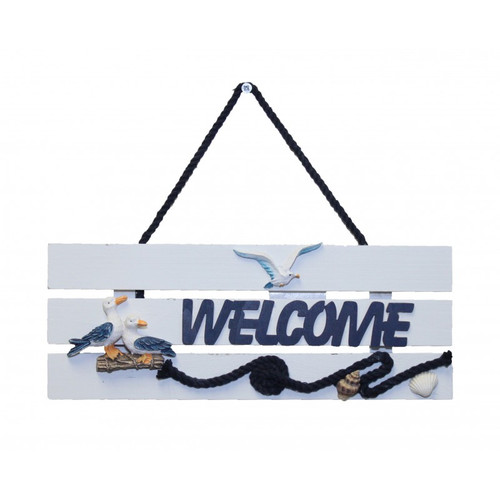 Wooden Pelican/Seagull Welcome Sign