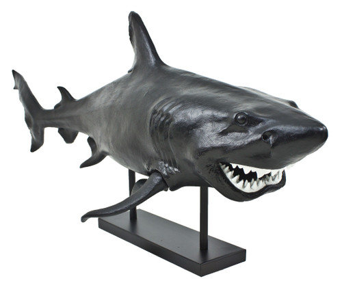"(MR-150) Extra Large 42"" Resin Shark Sculpture with Stand"