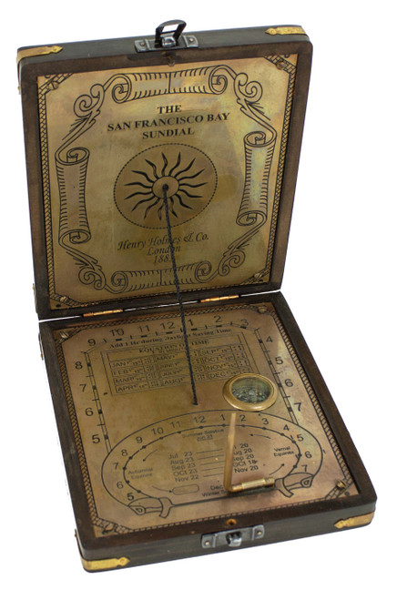 (MZ-158) San Francisco Bay Box with Sun Dial and Compass