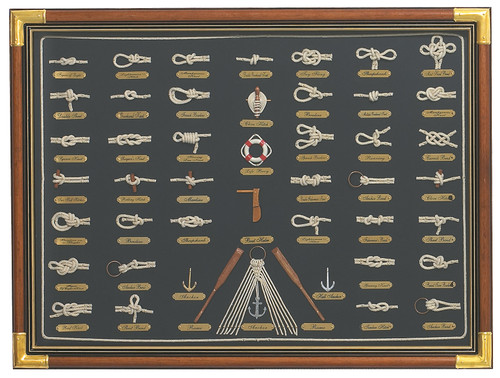 "(W-496) Large 31.5"" Framed Knot Board"