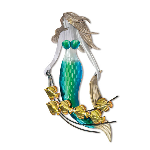"""(CO098) 39"""" """"Mermaid and Friends"""" Wall Sculpture"""
